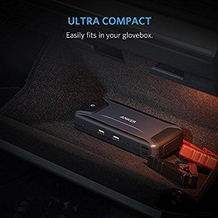 Anker Compact Car Jump Starter And Portable Charger, Black