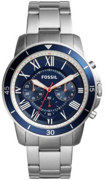 Fossil Grant Watch for Men - Analog Stainless Steel Band - FS5238