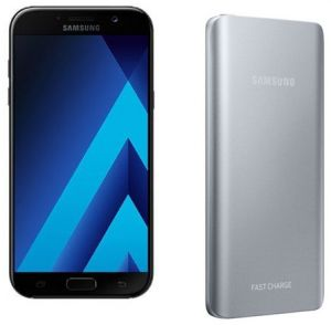 Samsung Galaxy A5 2017 Dual Sim - 32GB, 4G LTE, Black with Samsung Fast  Charging Battery Pack 5200mAh Silver