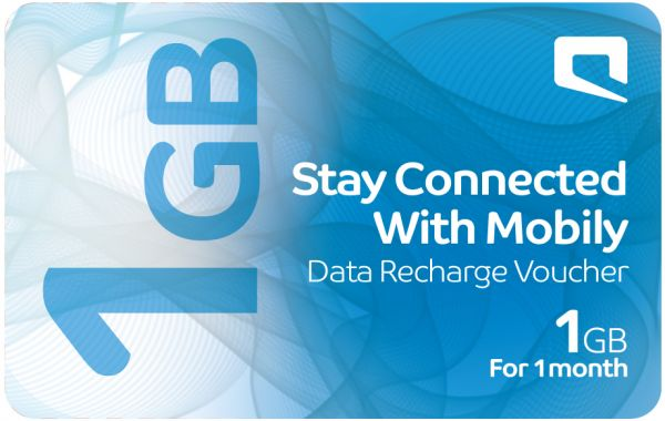 Mobily Data Recharge Voucher , 1 GB , 1 Month
