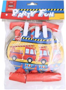 53981640b32 Party Fire Truck Card Blowout Pack Of 6 - Orange