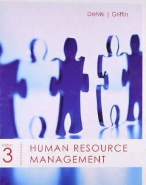 Human Resource Management, 3rd Edition by Angelo S. DeNisi