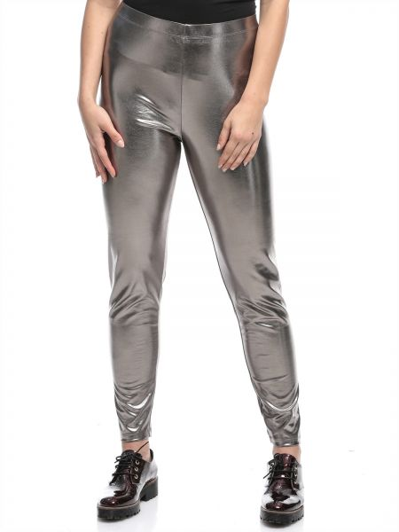 6153aa75a7ad2 Forever 21 Silver Skinny Leggings Pant For Women | Souq - UAE