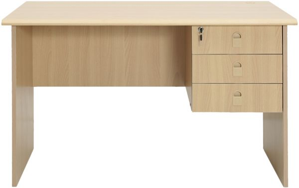 Aft Office Table With 1 Side Drawer Beige