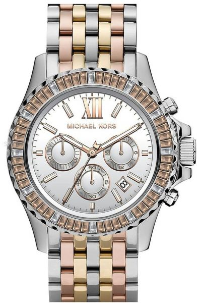 4c482a740 Michael Kors Chronograph Two Toned Stainless Steel Watch for Women