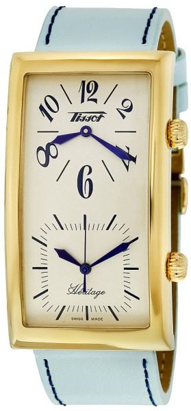 94a0a4dc96c Tissot Heritage Women s Beige Dial Leather Band Dual Time Watch -  T56.5.633.39
