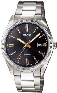 Casio Dress Watch For Men Analog Stainless Steel - MTP-1302D-1A2VDF