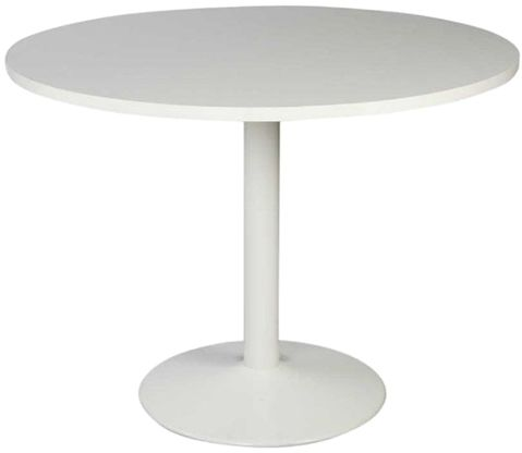 Souq Projekt Round Conference Table By Mahmayi White UAE - Round pedestal conference table