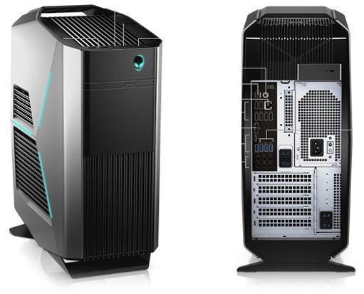 Alienware Aurora Gaming Desktop - Intel Core i7-7700K, 2TB,32GB, 8GB - GTX1080, Windows 10 Home, Grey