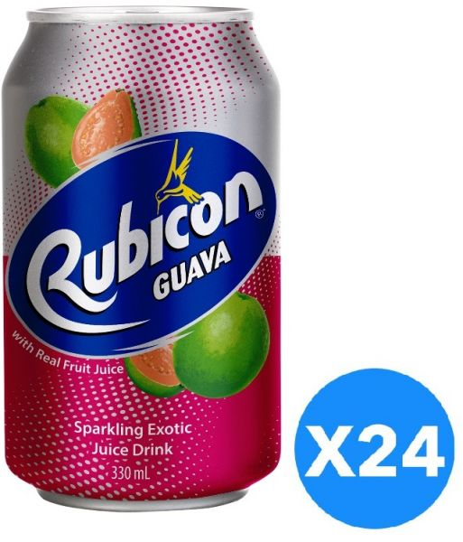 Rubicon Guava Sparkling Exotic Juice Drink - Pack of 24 Pcs (24 x 330ml)