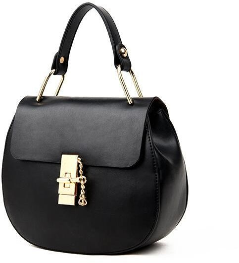 Stylish chain bag messenger bag shoulder bag women handbag round bag black
