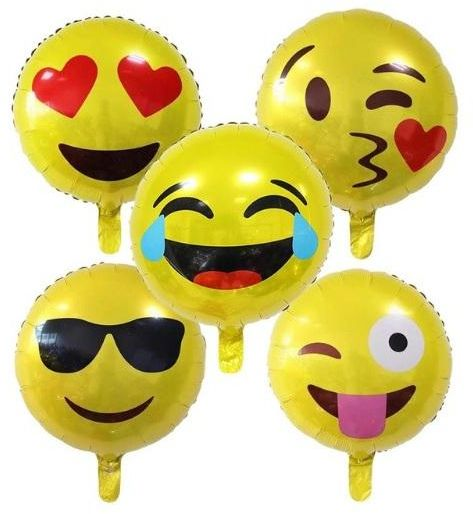 BESTPICKS 18 Inches 5 Pcs Emoji Balloons For Birthday Party Home Decoration