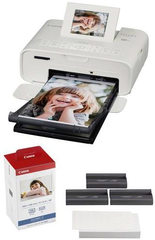 Canon Selphy CP1200 Compact Photo Printer(white) plus Canon KP-108IN Ink  and Photo Paper