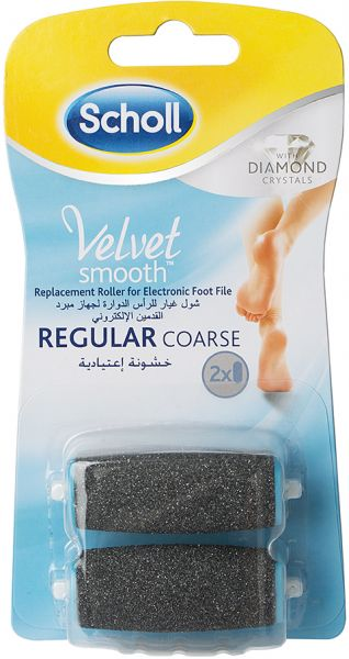 Scholl Velvet Smooth Regular Roller Heads with Diamond Crystals, Pack of 2. by Scholl, Health and Personal Care - 1 review