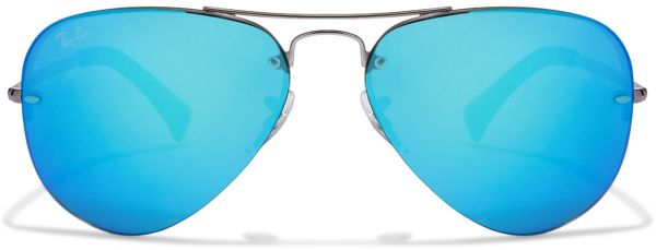 c9fce1de2ca82 Ray Ban Aviator Sunglasses for Unisex - Blue Mirror Lens