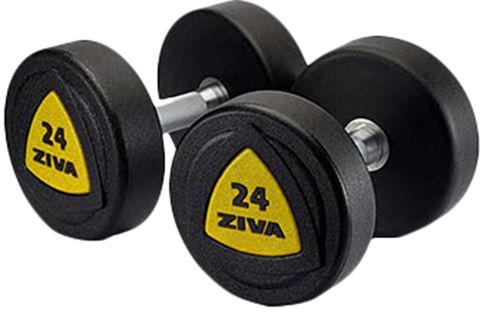 Ziva ZVZVO-DBPU-1018-Y Urethane Dumbell Set, Yellow/Black