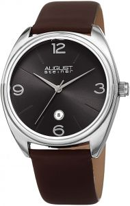 9edead053 August Steiner Men's Black Dial Leather Band Watch - AS8231SSBR