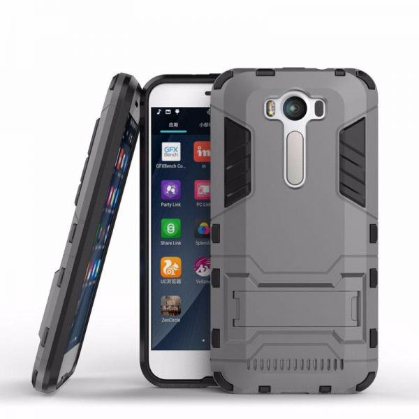 Asus zenfone 2 laser ZE500KL Iron Man Case With Stand Grey Back Cover