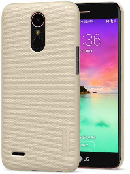 the best attitude 1308c 1e434 LG K10 (2017 Edition ) Nillkin Super Frosted Shield Back Case [Gold Color]
