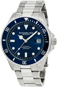 54142ee28 Stuhrling Original Men's Blue Dial Stainless Steel Band Watch - 792.02