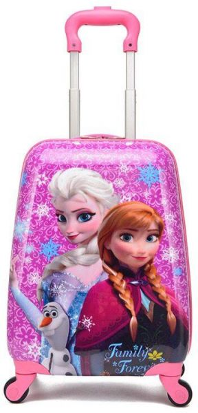 Frozen Princess Elsa and Anna Kid s Travel Luggage suitcase Childred Trolley  Case Cartoon Rolling Bag for School Kids Trolley Bag on wheels Boarding Box d07f78196e856
