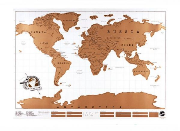 Souq Scratch Map Travel Scratch Map World Map Novelty Gift Scratch - Where have you been travel map