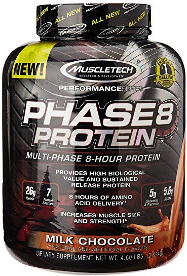 Muscletech Phase 8 Multi Phase 8 Hour Protein Milk Chocolate Flavor ... 7668dbe44