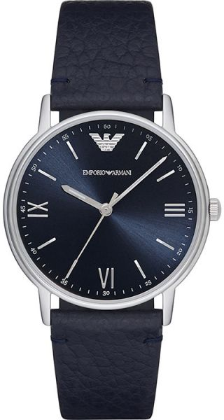 8624ffd84034 Emporio Armani Men s Blue Dial Leather Band Watch - AR11012