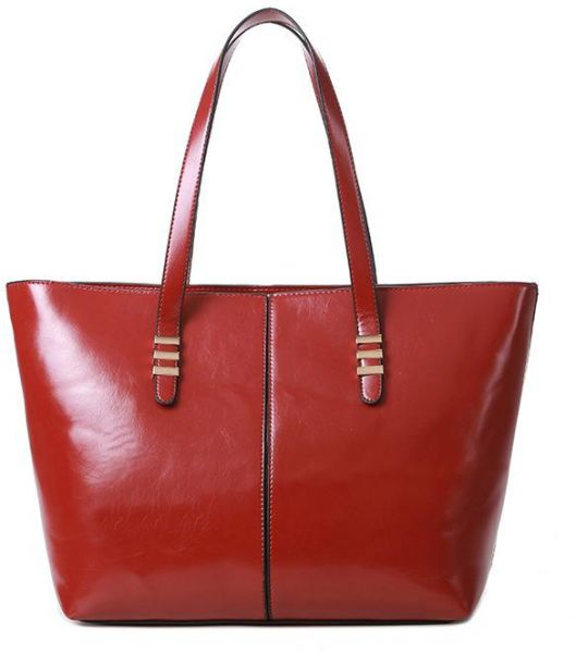 d2ae8d21b32e Fashion red Leather Shoulder Bag For Women Trendy Elegant Tote Bag European  Style Ladies HandBag