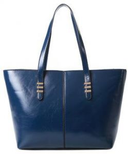 a31a9ca1fdcb Fashion Blue Leather Shoulder Bag For Women Trendy Elegant Tote Bag  European Style Ladies HandBag