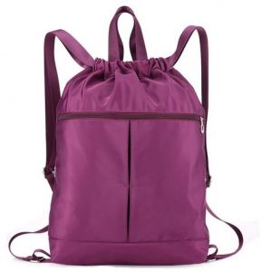 e2589407607 Multifunctional Universal Shoulder Backpack waterproof Bag Drawstring bag  For Ladies - Purple