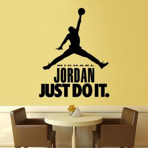 c3059036490a1f DIY Removable Luminous Wall Stickers For Living Room Bedroom Study Room Home  Decor - Michael Jordan Just Do It