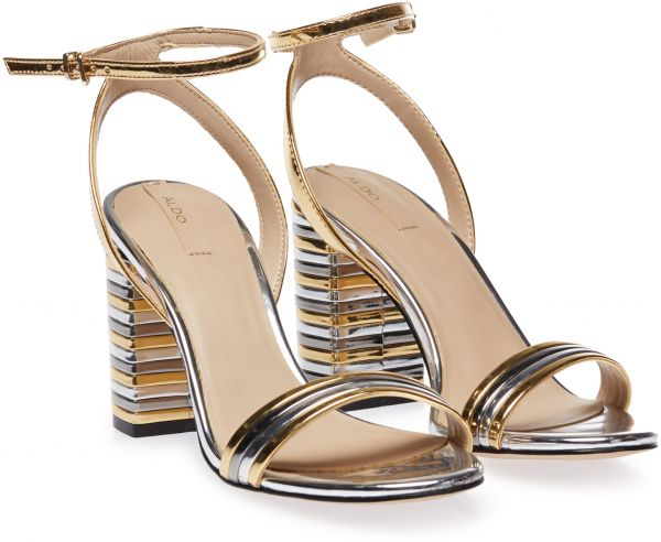 ca88d8126d16 Aldo IZABELA Heel Sandals for Women - Gold   Silver