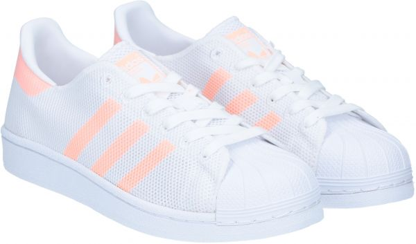 Adidas originals White & Peach Walking Shoe For Women