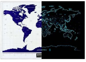 Sale on maps atlases globes palomar easy map advertising scratch off your footprint travel life starry noctilucent night map world edition gumiabroncs Images