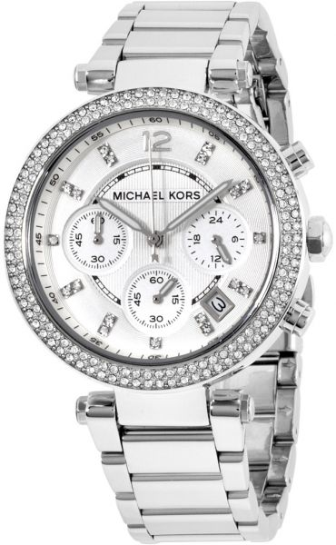 a200865eda33 Michael Kors Parker Women s Silver Dial Stainless Steel Band Watch - MK5353