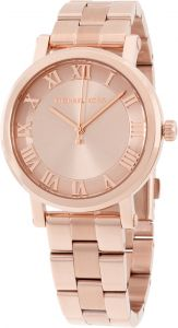 bbbf8cb3a19 Michael Kors Norie Women s Rose Gold Dial Stainless Steel Band Watch -  MK3561