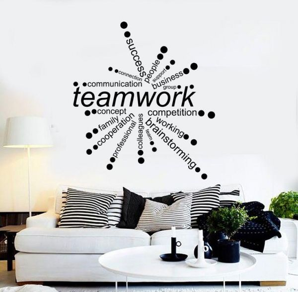 team work quotes for office, wall decals for living room, home decor