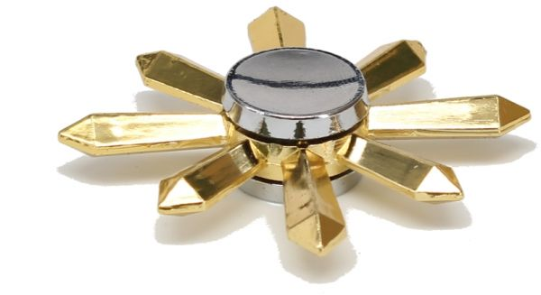Buy 8 Blade Naruto Ninja Star Fid Spinner Gold KSA
