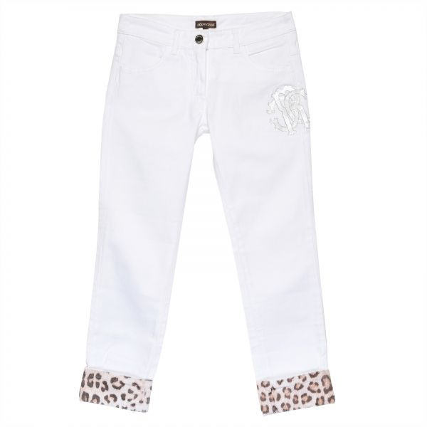 d3fa97f643 Roberto Cavalli Straight Jeans Pant For Girls