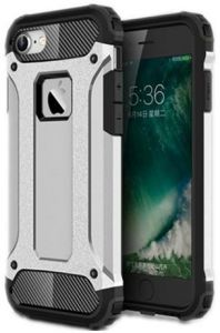 ... Case [Hybrid Armor Series] [Shockproof & Dropproof] [Spigen style ] Impact Hard Polycarbonate Back Cover + inner Soft Rubber 2 in 1 TPU Rugged Defender ...