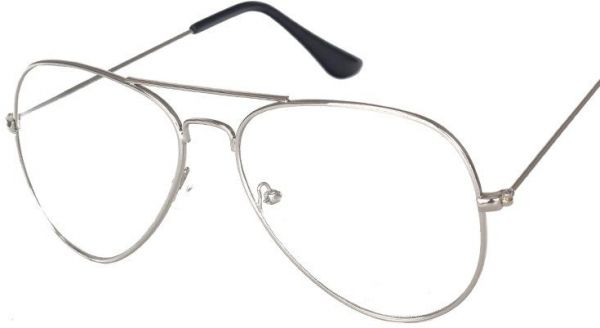 2d42b684e3 Oversized Aviator Flat Glasses Men Women Metal Frame Clear Lens Eyeglasses