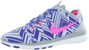 online retailer 88aea a3593 Nike Free 5.0 Tr Fit 5 Prt Training Shoes for Women, Wolf Grey Pink Pow  Violet