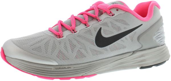 online store fb458 7c03e Nike Lunarglide 6 Flash Gs Running Shoes for Girls, Wolf Grey Black Hyper  Pink Reflect Silver   Souq - Egypt