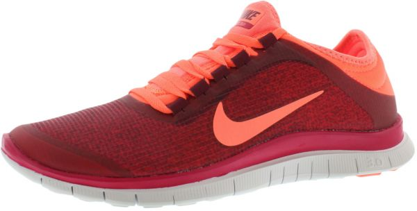 Nike Free 3.0 V5 Running Shoes for Women, Deep GarnetBright MangoFuchsia  Force