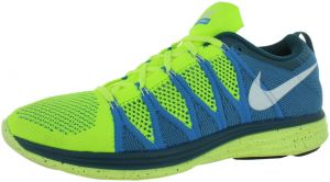 quality design 9eed4 b984a Nike Flyknit Lunar 2 Running Shoes for Men, Volt Blue Glow-White-Night  Factor