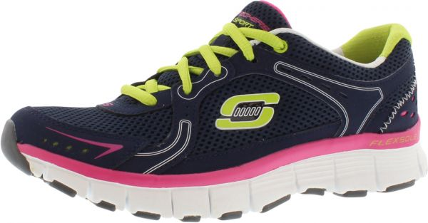46304516afc8 Skechers Fly Running Shoes for Women - Navy Green