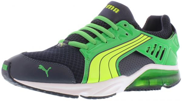 a461d245fbb Puma Power Tech Blaze Met Running Shoes for Men - Navy Green Yellow