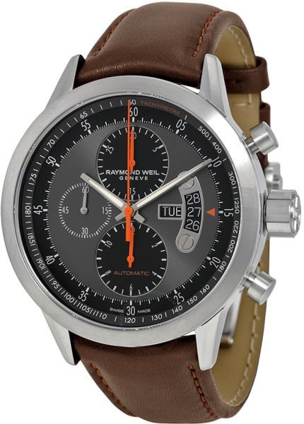 9a63587828c Raymond Weil Freelancer Men s Grey Dial Leather Band Watch - 7745-TIC-05609