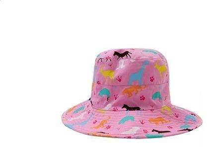 5d4b051caebe0 Kids Toddler Fisherman Bucket Hat Beach Cotton Cap Double-sided Wear Sun Hat